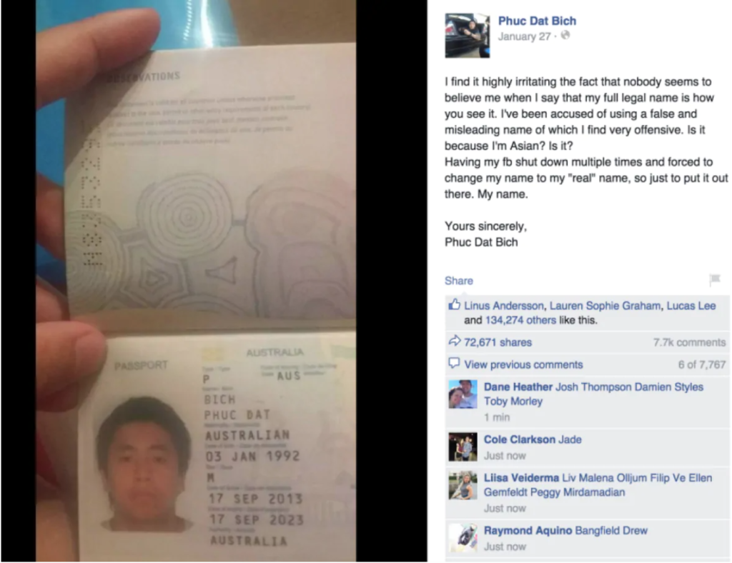 "Man with Vietnamese Name ""Phuc Dat Bich"" Admits Hoax in FACEBOOK Battle"