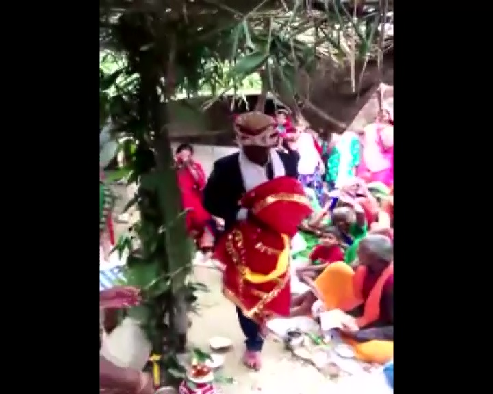 INDIAN Man Marries a Wooden Effigy to Fulfill His Father's Wish