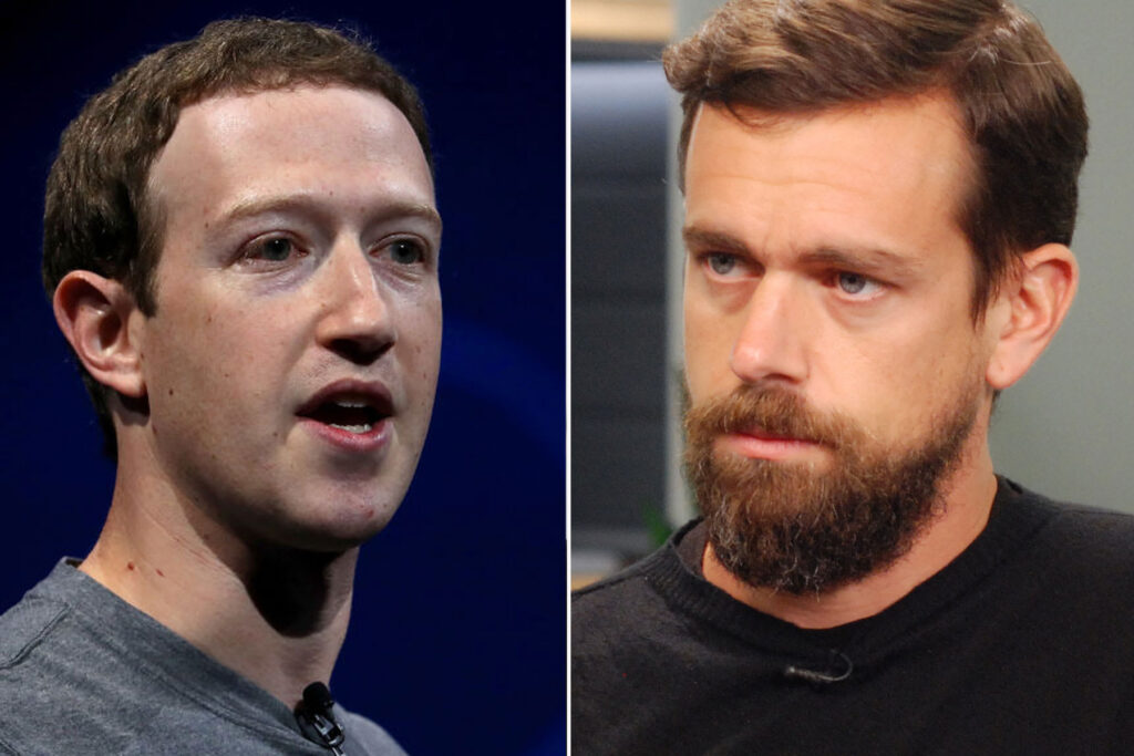 Side by Side Photo of Mark Zuckerberg and Jack Dorsey Goes Viral on TWITTER