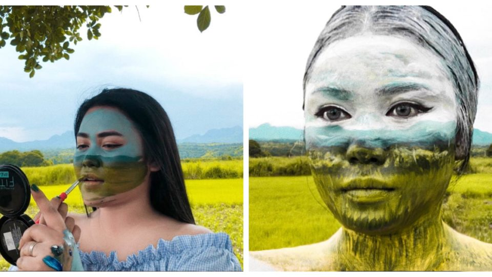 VLOGGER blends into the countryside background, literally
