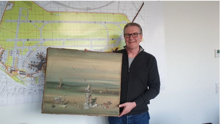Expensive PAINTING Lost at German Airport Found in Dumpster