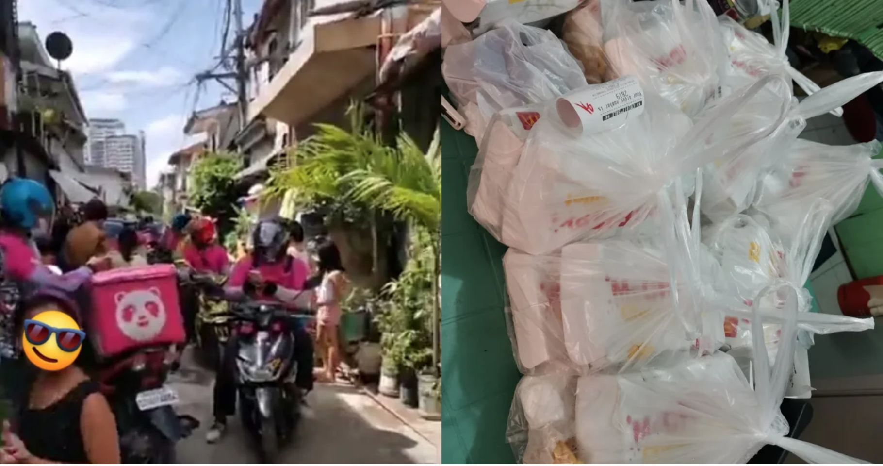Filipino Woman Goes Viral After FOODPANDA Glitch Sends 42 Riders to Her Home