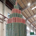 Sardine Can CHRISTMAS Tree Lauds as Tallest Can Structure by Guinness
