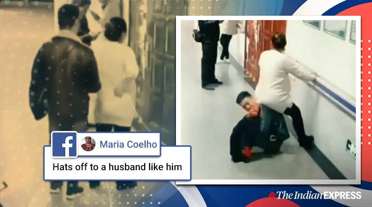 HUSBAND OF THE YEAR Turns into Human Chair for Pregnant Wife