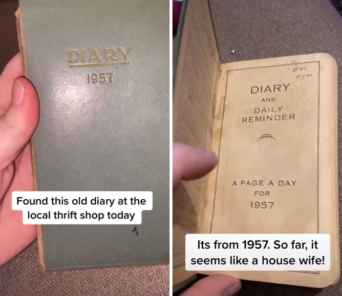 1957 DIARY Found on a Thrift Store Reveals Ways of Life Hasn't Changed At All