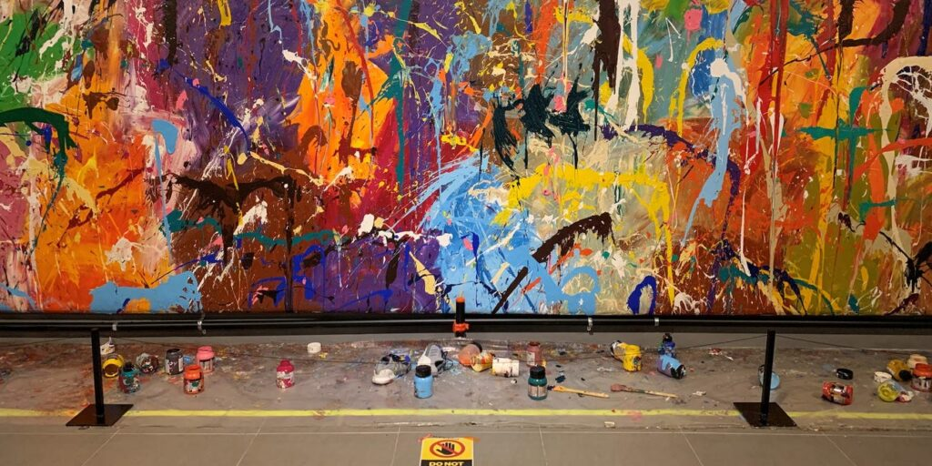 Couple Vandalizes $440k PAINTING of JonOne Thinking It Was an Interactive Exhibit