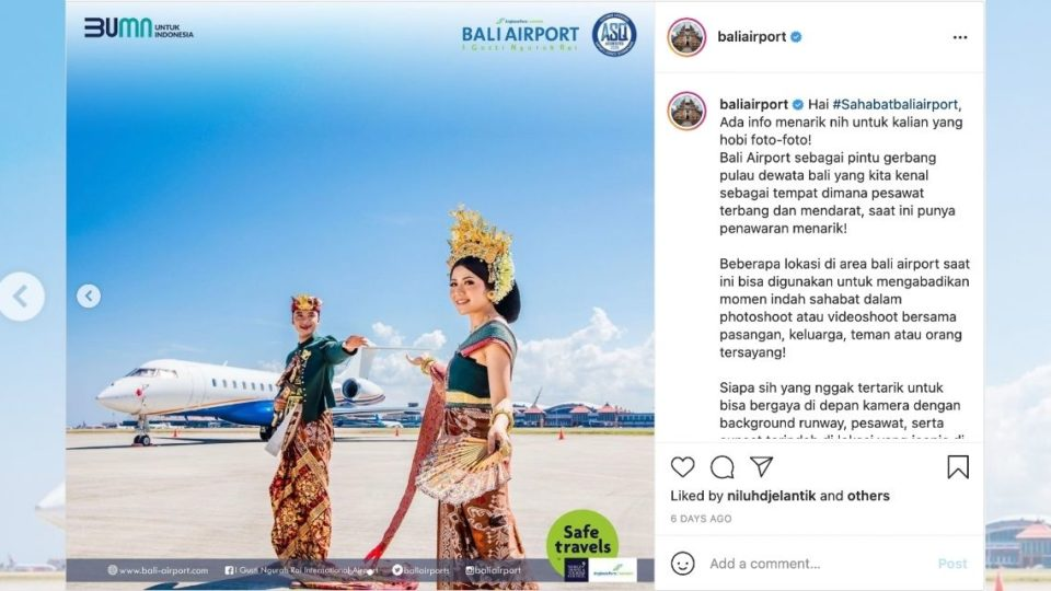 This Indonesian airport now allows pre-wedding photoshoots for couples