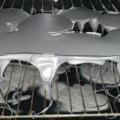 oven with melting tray inside